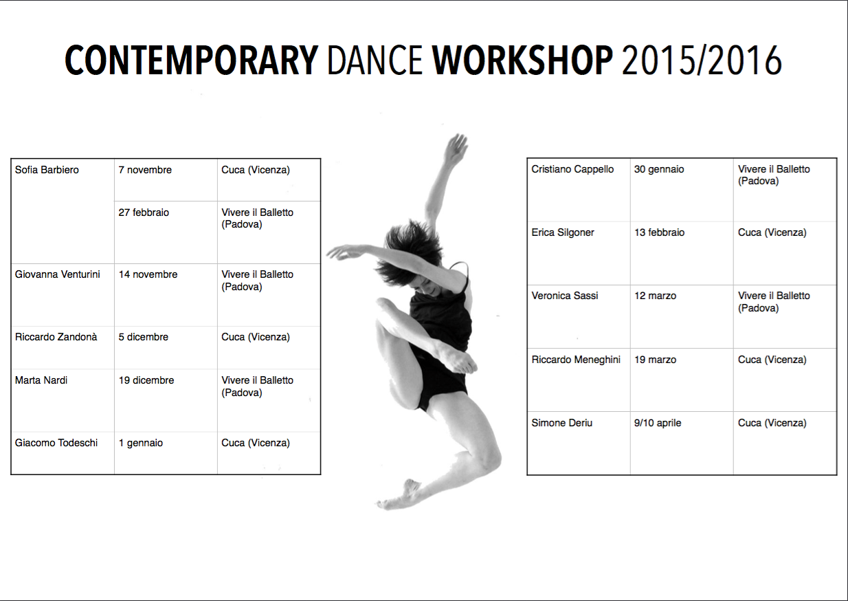 Contemporary Dance WORKSHOP 2015/2016